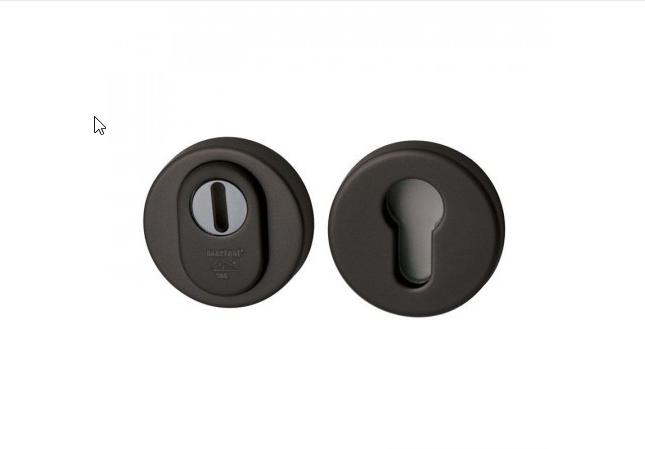 Hardbrass vh cilinderrozet rond zwart